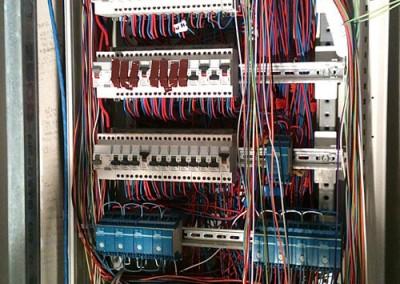Tableau principal avec modules de commande domotique